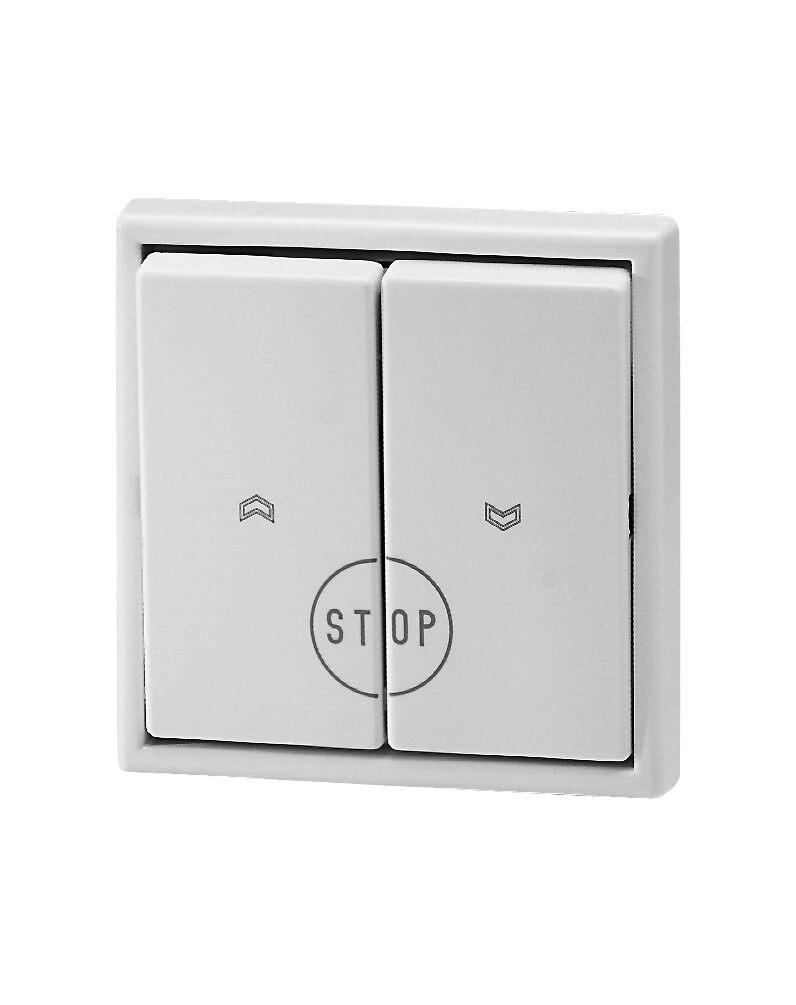 Wipptaster AUF/AB/STOP JUNG LS 990 ultraweiß